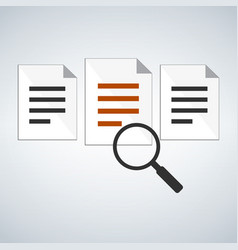 searching the document or application concept vector image