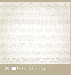 set border elements and page vector image