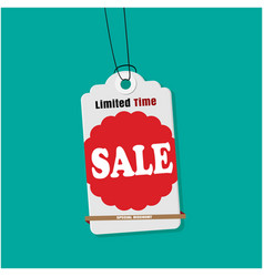 tag sale limited time sale image vector image