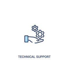 Technical support concept 2 colored icon simple vector
