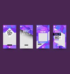 Template design set instagram stoties vector