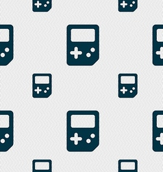 Tetris icon sign Seamless pattern with geometric vector image