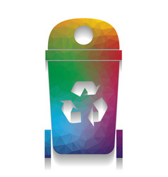 trashcan sign colorful icon vector image