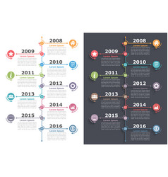 Vertical timeline vector