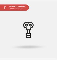 Wind up simple icon symbol vector