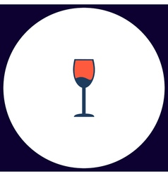 Wineglass computer symbol vector