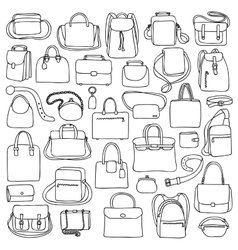 Woman and man bags set vector image