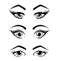 Woman eyes collection vector