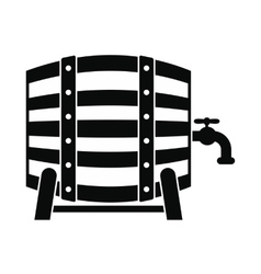 wooden barrel beer with a tap icon vector image