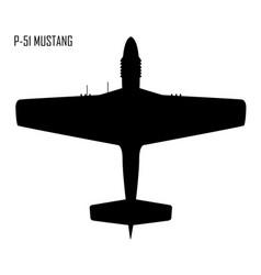 World war ii - north american p-51 mustang vector