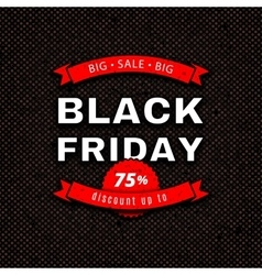 Black Friday Sale design template Red white vector image vector image