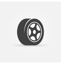 Tyre black symbol or icon vector image