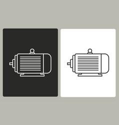 electric motor - icon vector image vector image