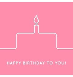 Happy birthday retro postcard with cake icon vector image