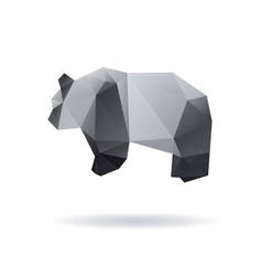 Panda isolated on a white backgrounds vector image vector image