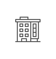 apartment house line icon vector image vector image