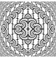 Design monochrome decorative interlaced pattern vector image vector image