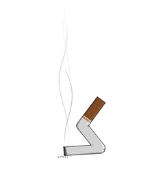 extinguished cigarette butts vector image vector image