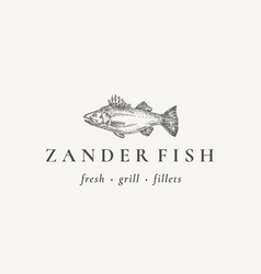 fish restaurant or grill abstract sign vector image