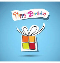 Happy Birthday to You theme on blue background vector image