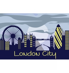 London city silhouette vector image