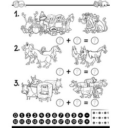 maths game coloring page vector image vector image
