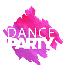 dance party purple pink watercolor paint backgroun vector image