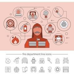 Fire department concept vector