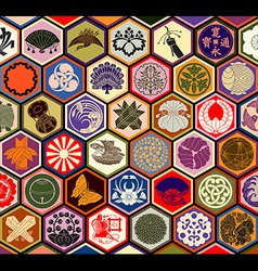 Japanese Family Crests vector image vector image