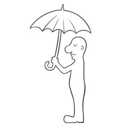 man under umbrella vector image vector image