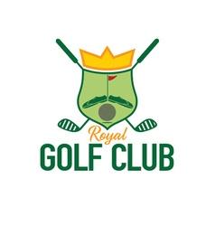 royal golf club crest vector image