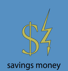 Saving money economy icon vector image vector image