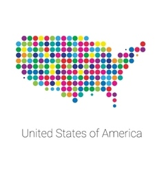 USA Map colored dotted design vector image