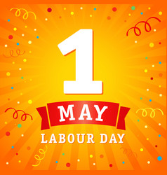 1 may labour day banner vector