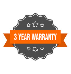 3 year warranty isolated seal 3 year warranty vector