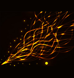 Abstract glowing wavy lines vector