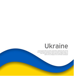 Abstract waving flag ukraine paper cut style vector