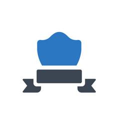 achievement badge icon vector image