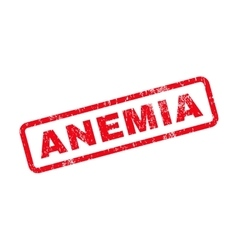 Anemia Text Rubber Stamp vector