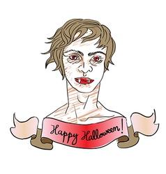 Beautiful vampire vector