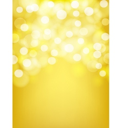 blurry golden abstract background vector image