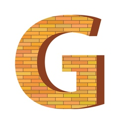 brick letter G vector image