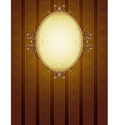 Brown classical background vector