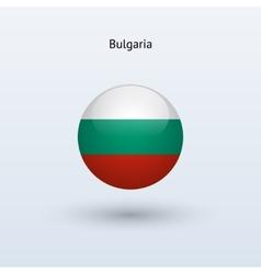 Bulgaria round flag vector