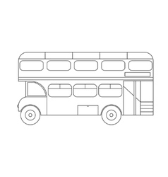 Bus london thin line vector