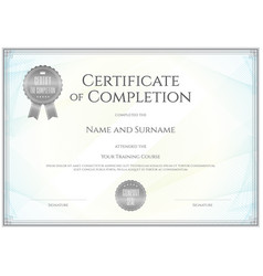 Certificate template in for achievement vector