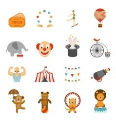 Chapito circus icons set flat vector image