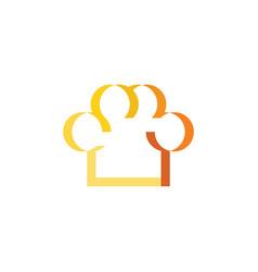 chef logo restaurant cooking symbol vector image