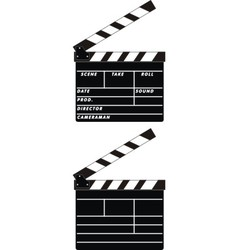 cinema clapboards vector image