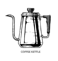 Coffee kettle vector